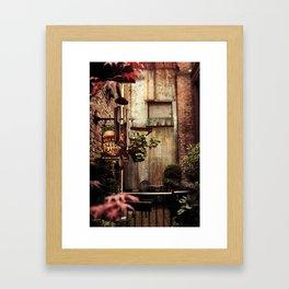 Hidden Alley Framed Art Print
