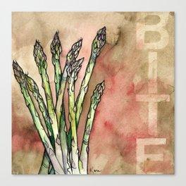 Bite (Asparagus) Canvas Print