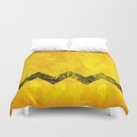 charlie brown Duvet Covers featuring Distressed Charlie Brown by Leah M. Gunther Photography & Design