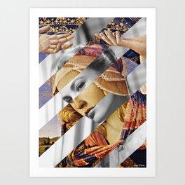 "Botticelli's ""Madonna of the Magnificat"" & Grace Kelly Art Print"