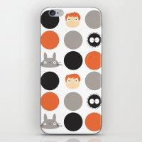 miyazaki iPhone & iPod Skins featuring I Love Miyazaki by Etiquette