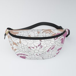 geometric pattern with bouquet into mandala Fanny Pack