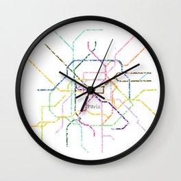 Paris Subway Map Art Wall Clock