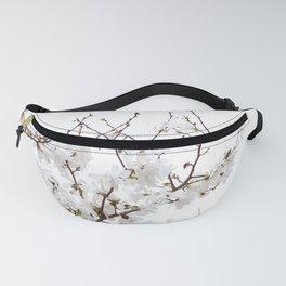 Spring White Flowers Fanny Pack