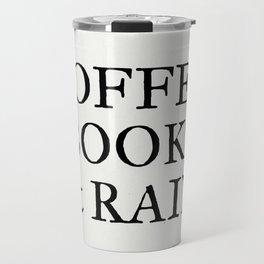 Coffee Books & Rain - Paper Travel Mug