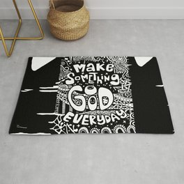 Make something great today and everyday Rug