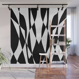 Entropy Two: Black and White Wall Mural