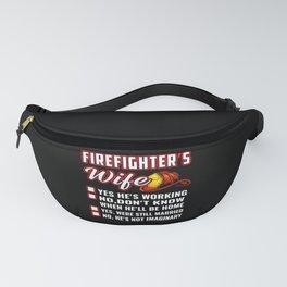 Firefighter's Wife Red Helmet Fanny Pack