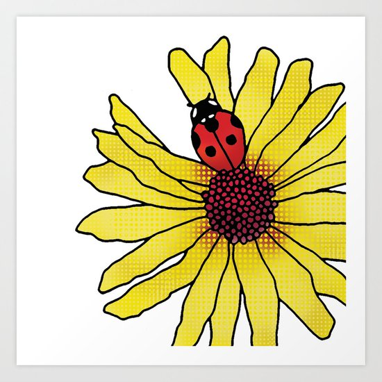 Little Lady Bug Art Print