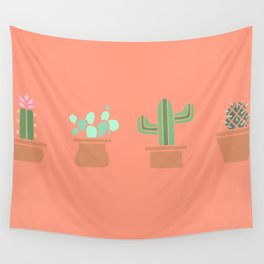 Cute Cacti Wall Tapestry