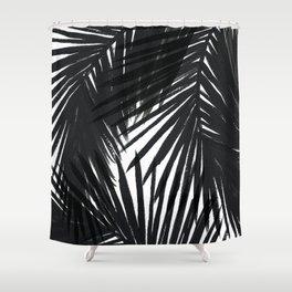 Palms Black Shower Curtain