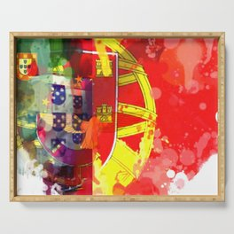 Portugal artistic flag Serving Tray