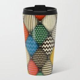buttoned patches retro Travel Mug