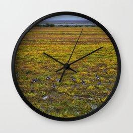 Ducks on the Tundra Wall Clock