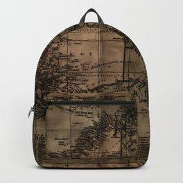 Vintage Map of Australia Backpack