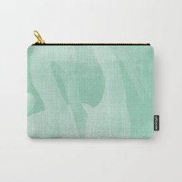 Pelican Bay | Seafoam + White Carry-All Pouch