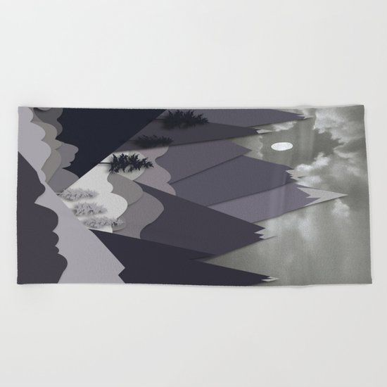 Night Mountains No. 24 Beach Towel