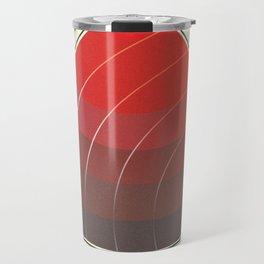Le Rouge-Orangé (ses diverses nuances combinées avec le noir) Vintage Remake, no text Travel Mug