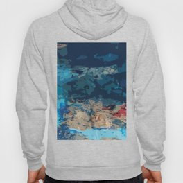 Abstraction (Acrylic Paint & Blue Glass Bottles) Hoody