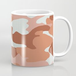 terracotta toned camo Coffee Mug