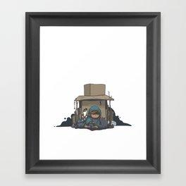 Cardboard Castle Framed Art Print