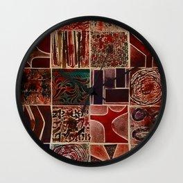 Quilt of a Sort Wall Clock
