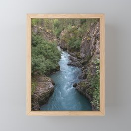 Alaska River Canyon - I Framed Mini Art Print