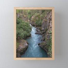 Alaska River Canyon - I Framed Mini Art Print