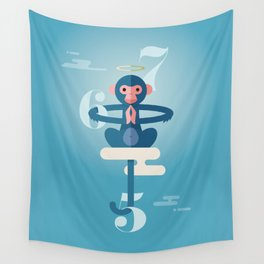 Monkey Gone to Heaven Wall Tapestry
