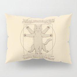 Vitruvian Cat Pillow Sham