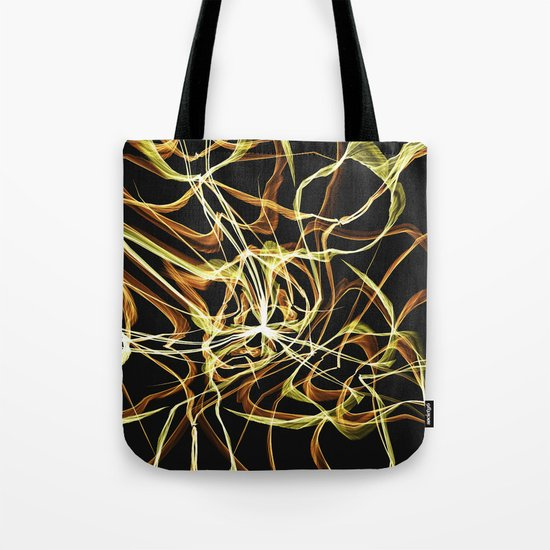 Hearts of Gold Warped Tote Bag