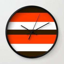 Football Cleveland Color Wall Clock