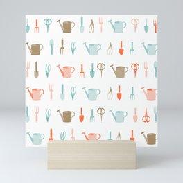 AFE Gardening Tools Pattern Mini Art Print