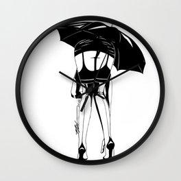 Chuva na Rua Augusta Wall Clock