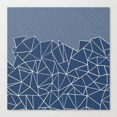 Ab Lines 45 Navy Canvas Print