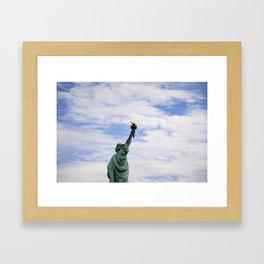 Proud Lady Liberty Framed Art Print