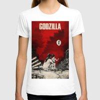 godzilla T-shirts featuring Godzilla.  by Sinpiggyhead