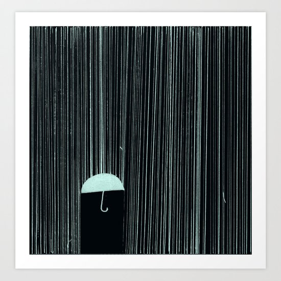 Rain Like Ice Art Print