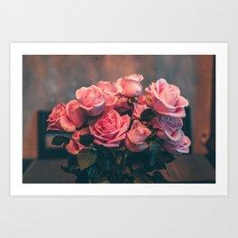 Pink Rose Center Piece Art Print