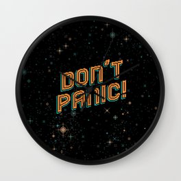 Don't Panic! Pixel Art Wall Clock