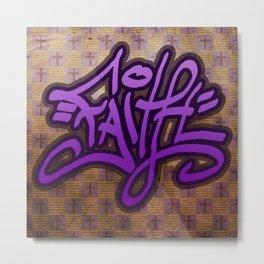 Faith (Graffiti) Metal Print