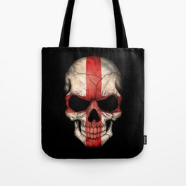 Dark Skull with Flag of England Tote Bag