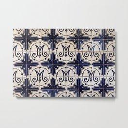 Vintage portuguese azulejo Metal Print