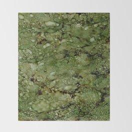 Green Camo Throw Blanket