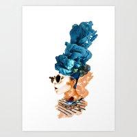 sunglasses Art Prints featuring sunglasses by PLASTIK FACTORY