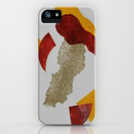 Grabado tricolor iPhone Case