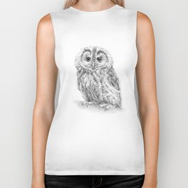 The Tawny owl Biker Tank