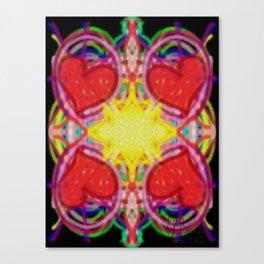 Sun Of Hearts Canvas Print