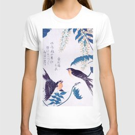 Swallows and Wisteria B T-shirt