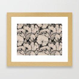 Tussilago Leaves Pattern Framed Art Print